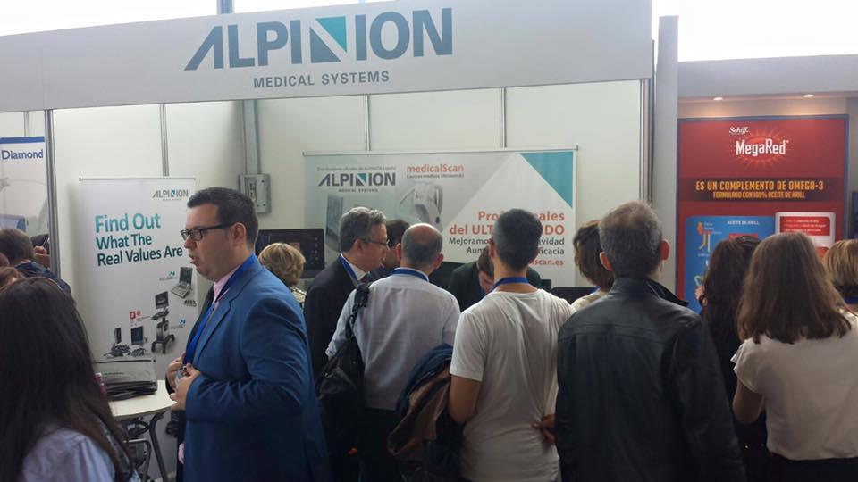 imagen de nuestro stand de Alpinion en los congresos médicos